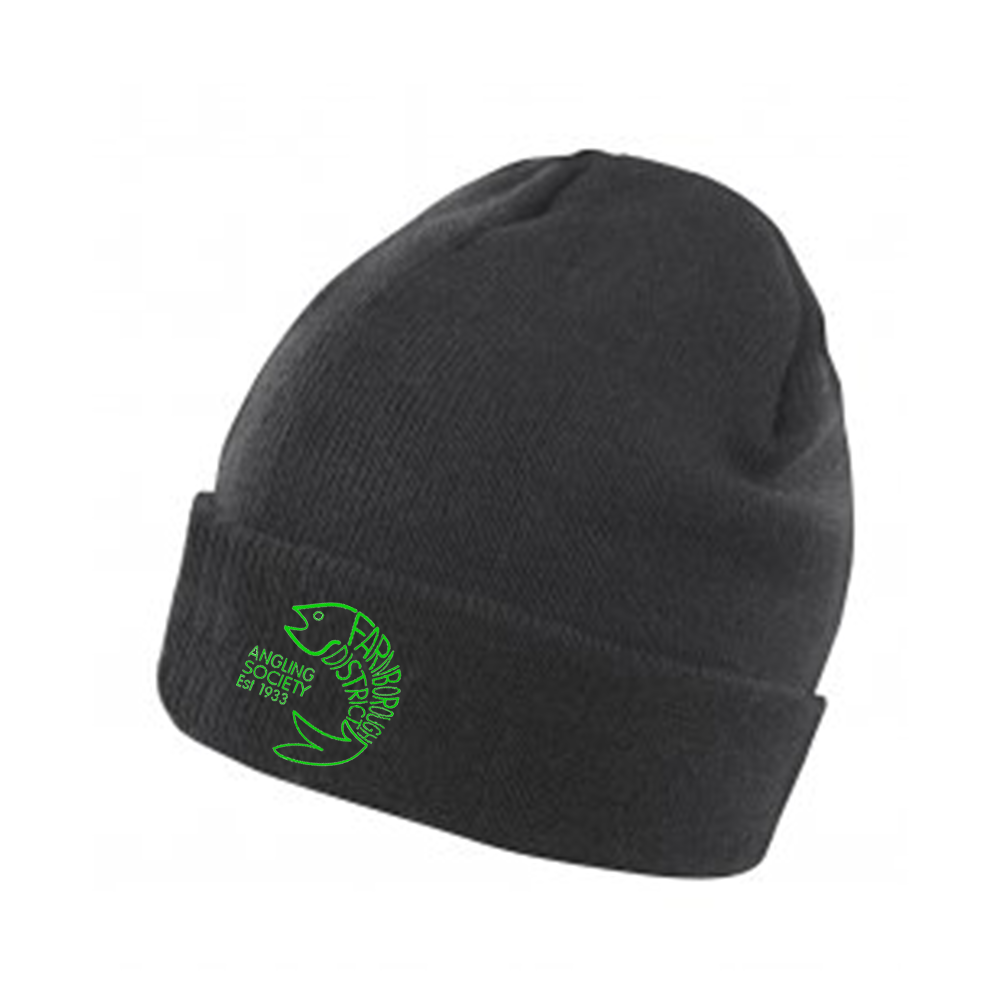 Farnborough And District Angling Society Embroidered Beanie Hat