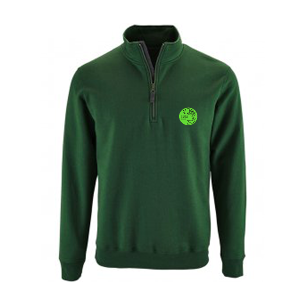 Farnborough And District Angling Society Green Half Zip Fleece
