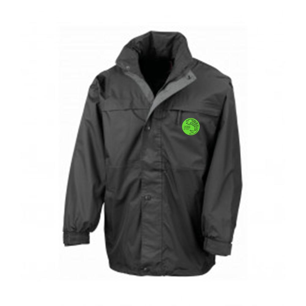 Farnborough And District Angling Society Black Waterproof Jacket